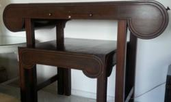 2 pieces custom designed Rosewood Altar Table. Well