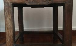 Old Chinese dark wood stool side table stand.