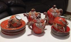 Old hand make tea set 35 years old collector item.