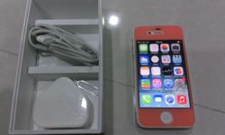 iPhone 4 16GB, White color with full box, ver 7.0 Phone