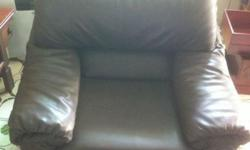leather single arm chair