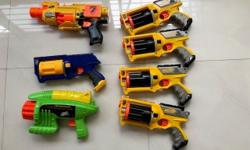 Hi, I am selling 7 numbers of Assorted toy nerf guns as