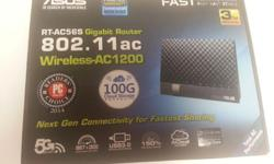 ASUS RT-AC56S 802.11ac Dual Band Wireless AC1200