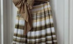 Attractive Midi Skirt with Ribbon. Size S. Waist is 29