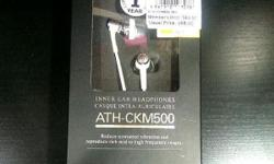 INNER EAR HEADPHONES ATH-CKM500 RETAIL PRICE $68 BRAND