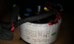 good condition audio transformer,two a.c. voltage input