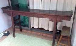 Authentic antique Chinese altar table purchased from Hu