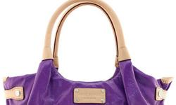 GENUINE patent leather in violet purple with vachetta