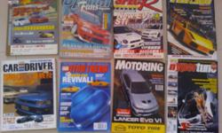 8pcs of car magazines for sale @ $12