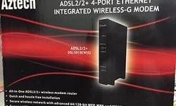AZTECH ADSL integrated wireless-G Modem from Singtel,