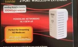 Selling Aztech 200 MBPS 2-port wireless-N extender for