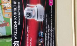 Aztech Wireless Tit/Pan IP camera cctv under utilise