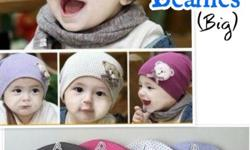 Baby Beanies/hats Size: 36-44cm Available in 4 colours