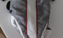 Baby bjorn carrier grey and white mesh 7/10 $30