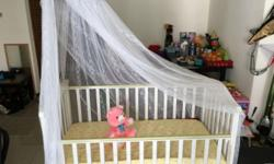 Hardly Used Baby Cot - Only used for couple times then