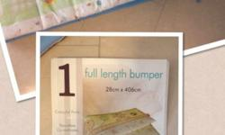 Lightly used Baby Cot/Crib Bumper- boyish colors. $10.