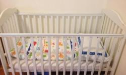 For sale, baby cot in white colour - can fit a car with