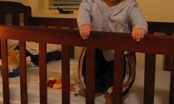 - URGENT moving out sales - Solid wooden baby cot. - 2