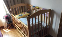 Baby Cot with wheels bought in Japan in good condition