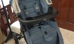 Gently used Baby Jogger City Mini in Light Blue/Grey.