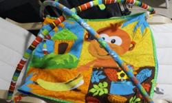 Monkey baby play mat. Preloved 7/10. Self collect.