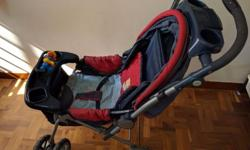 selling our baby pram which is in good condition. red