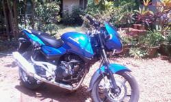 pulsar 200cc 3 1/2 yrs old blue color bike insurance n