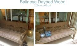 Wooden Balinese Daybed for sale 200 cm x 60cm Call me
