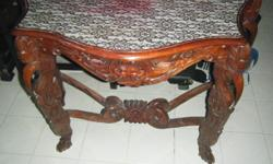 Balinese Mirror and table.Selling as a pair or