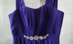 Long ball gown - purple direct from dry cleaning size
