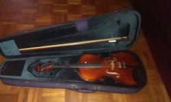 Selling barely used, 1 year old Eurostring violin. Size