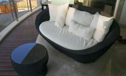 Great, outdoor balcony/patio furniture. 3 seater couch