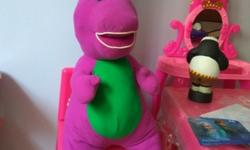 Giant Barney soft toy for sale..in almost new