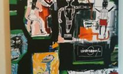 Unique Basquiat Painting (No Title)   Reproduction of