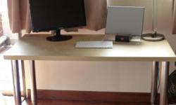 Beautiful desk with Gerton Ikea adjustable,