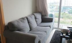 BEAUTIFUL AND COMFORTABLE THREE SEATER LIGHT GREY SOFA,