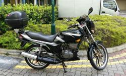 Good condition black Yamaha RXZ for sale. Coe renewed