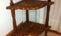 Moving out sale: Beautiful carved side table with