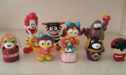 This beautiful collection of eight McDonald's toys with