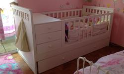 Letting go of our beautiful convertible cot bed. It