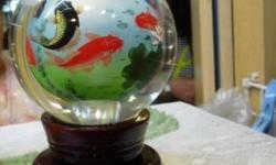 Brand New Glass Ball good for display, beautiful fish