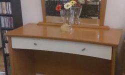 Beautiful dresser with magnifying glass attached