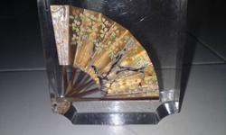 Beautiful Japanese Fan Paperweight Collectible- $10