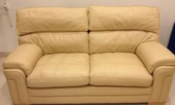 Very comfortable real leather sofa set, hardly used,