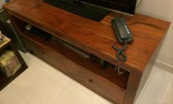Solid wood TV console in very good condition, for