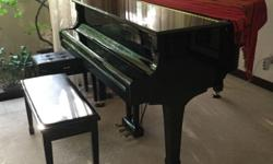 Yamaha C1 Baby Grand piano made in Japan. Less than 5