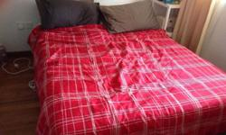 Bed base and mattress queen size like new, just used
