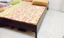 Used Matress and Bed frame. Bed Frame is of good