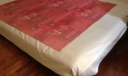 BED + MATTRESS - LARGER THAN KING SIZE BED 7ft X 5.5ft