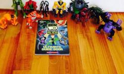 Ten Ben 10 figures and character book. Pick up only -